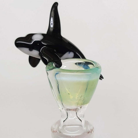 Killer Whale Orca sweers glass bowl 14mm