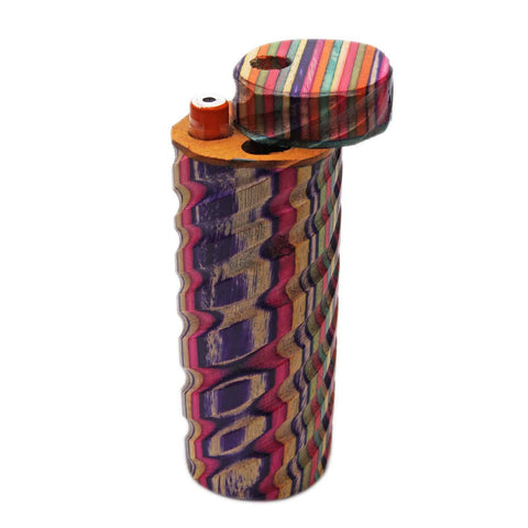 Genuine Pipe Co. Dugout Cylindrical Rainbow Large