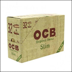 OCB Organic Hemp Slim King Size 32/pack Combo With Tips 24/box