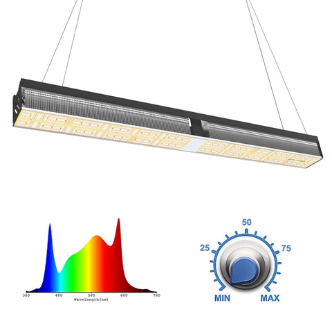 Mars Hydro SP6500 LED Light 650W WaterProof Samsung & OSRAM LEDs Quantum Dimmable Daisy-Chainable 3x5' Coverage
