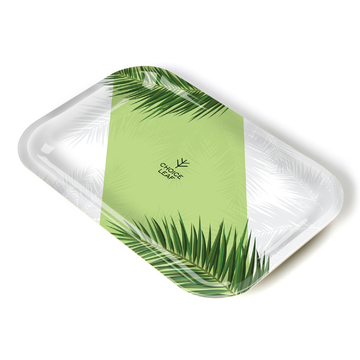 Choice Leaf Rolling Tray Green Palm Small