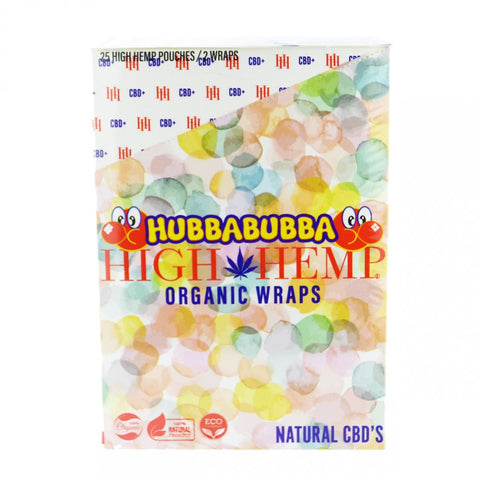 High Hemp 100% Organic Hemp Wrap Hubba Bubba Flavor 2/pack W/Tips