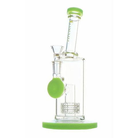 "Gangster Glass WaterPipe - Stemless 10"" Banger Hanger Matrix Perc 14mm Bowl Choice of Colors GG191"
