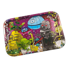 "Dunkees Rolling Tray Dab Wars 7.5"" x 5.5"""