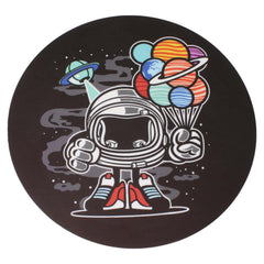 "NoName Astronaut 8"" Diameter Round Silicone Rubber-Backed Dab Mat"