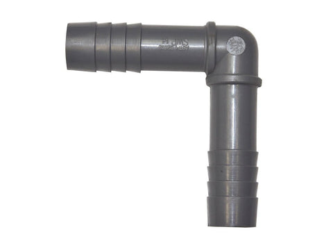"Grotek Pump / Dripper Hose 3/4"" Barbed Insert Adapter Elbow"