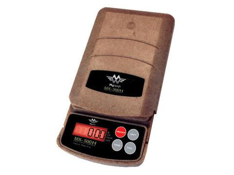 MyWeigh MX-500 Hemp Eco-Plastic Pocket Precision Digital Scale - 500g x 0.1g