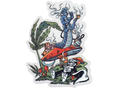 Cycle Stickers Sticker - Caterpillar Hookah
