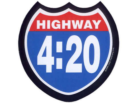 Cycle Stickers Sticker - Highway 420