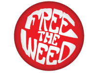 "SWAG Magnet - 1.25"" Round - Free The Weed 4882"