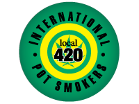 "SWAG Magnet - 1.25"" Round - Union Local 420 International Pot Smokers 4883"