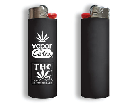 Bic Lighter Regular Size w/ THC & Vapor Central Logos