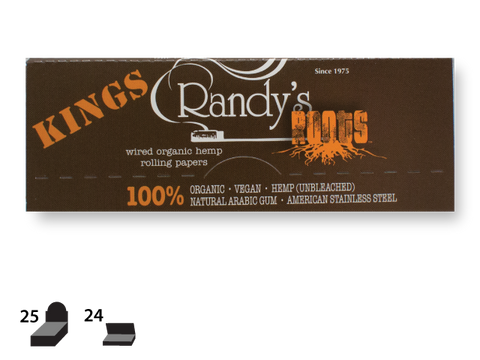 Randy's Roots Hemp Wired Rolling Papers 1-1/4 Size, 24/pack