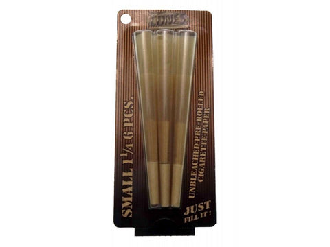 Cones 1-1/4 Size Pre-Rolled Cone Natural Unbleached 6/pk 50/box