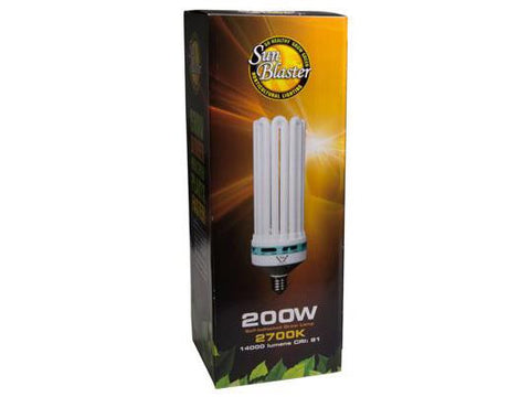 SunBlaster Compact Fluorescent Plant Grow Lighting Bulb - 200Watt - 2700K (Flowering)