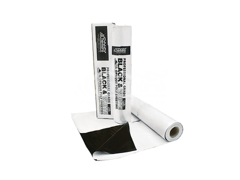 Thermoflo Black & White Reflective Plastic Material Roll 10' x 25'