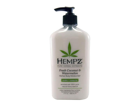 Hempz Herbal Body Moisturizer - Fresh Coconut & Watermelon -  17oz