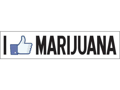 SWAG Sticker - I LIKE Marijuana