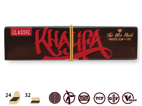 Wiz Khalifa x RAW - Loud Pack Connoisseur Tips & Poker King Size Slim - 32/pack