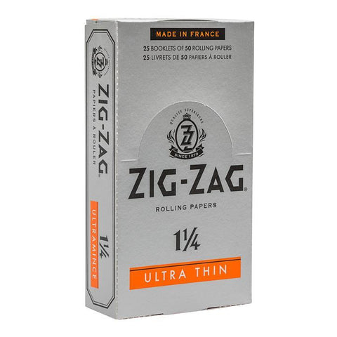 Zig Zag Rolling Papers - 1-1/4 Size Ultra-Thin 50/pack 24/box