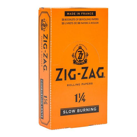 Zig Zag Rolling Papers - 1-1/4 Size Orange 32/pack 24/box