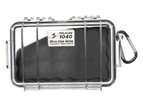Pelican Protector Case Micro 1040 Clear Top - Choice of Colors