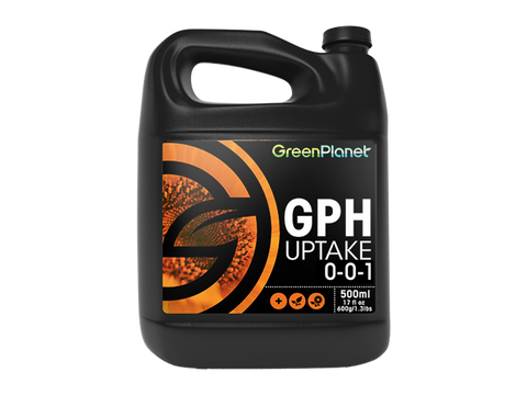 GPH UPTAKE is derived from humified ancient bogs. It may increase the availability and uptake of micronutrients.