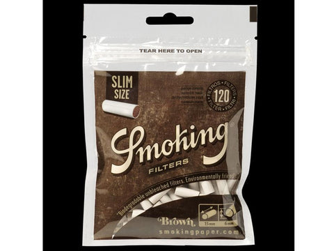 Smoking Brown Slim Filters 120/pack 10/box