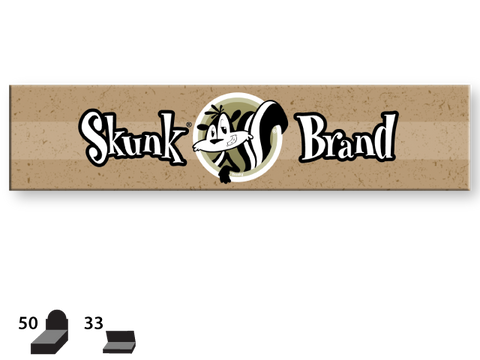 Skunk Brand Rolling Papers - King Size (KingSize Slim) - Genuine Hemp 33/pack 50/box