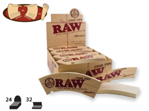 RAW Tips Cone-Shaped Maestro (Large) 32/pack 24/box