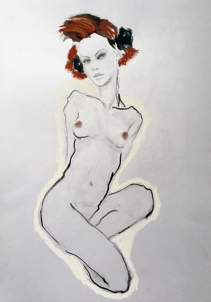 Seated Girl - my version of Egon Schiele II