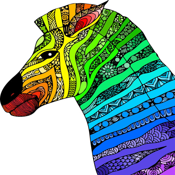 Colorful Zebra - Diamond Painting Kit