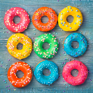Colorful Donuts - Diamond Painting Kit