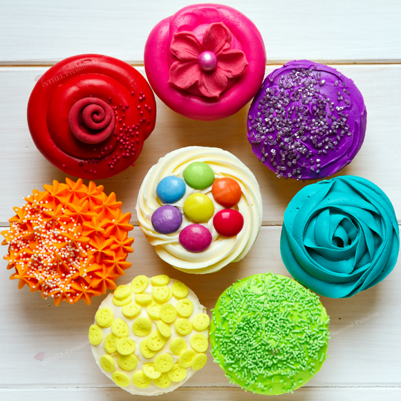 Colorful Cupcakes - Diamond Painting Kit