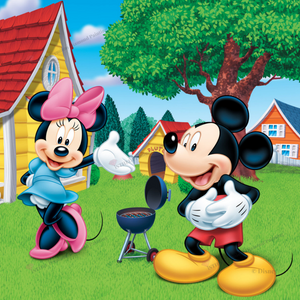 Mickey and Minnie Garden- Diamond Painting Kit with 1 AB