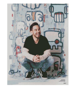 Mike Shinoda - #LinkinPark - Full PREMIUM Elegant Diamond Painting #crossstitch #DiamondPainting - iSTHEL