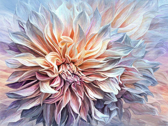 Dazzling Dahlia - Diamond Painting Kit