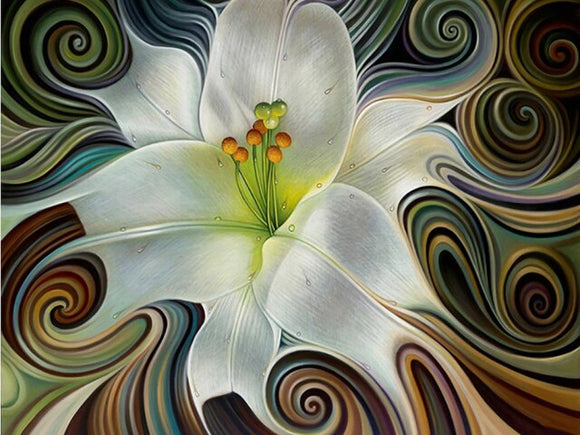 Abstract Lily - Diamond Painting Kit