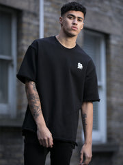 Black Oversized Distressed T-Shirt