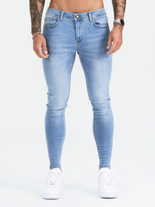Light Blue Non Ripped Jeans