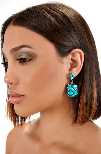 Gem Stud Earrings Turquoise
