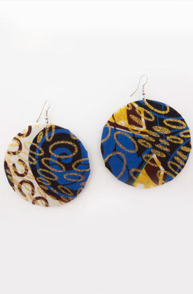 Blue Glitter Earrings