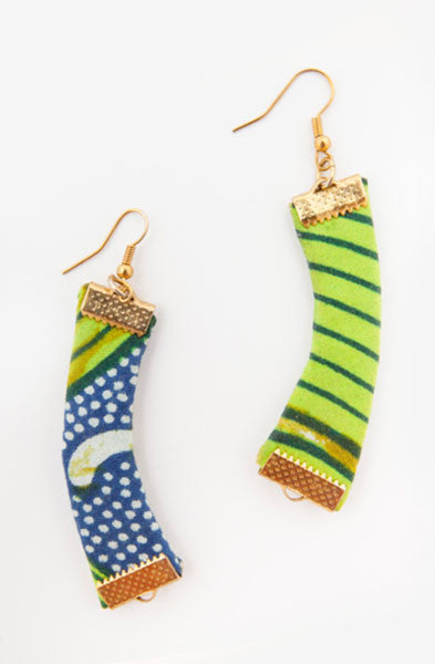 Moon Green Earrings