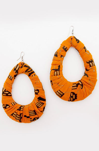 Orange Loop Earrings