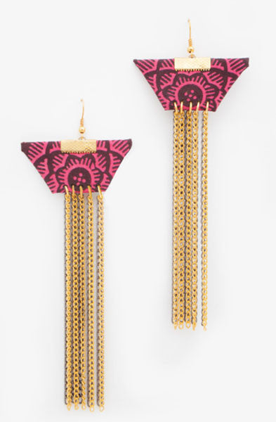 Pink Trapeze Earrings