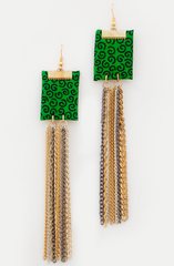 Hot Green Earrings