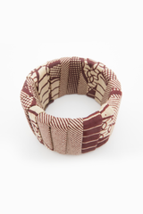 Multiple brown bangle. Fabric.