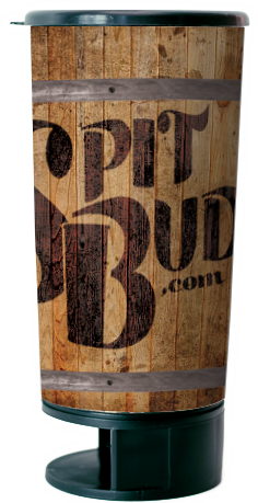 Spit Bud Whiskey Barrel Design
