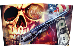 Skull, Pistol and Money