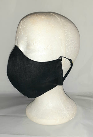 """The Classic"" Black linen face mask"